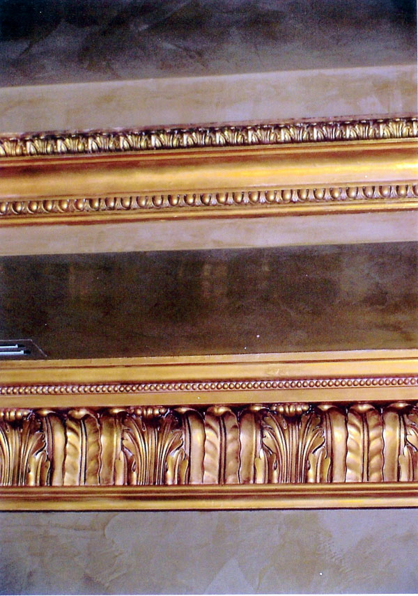 gold crown molding
